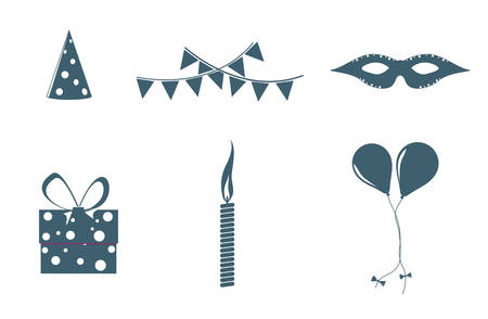 objects: Birthday objects Illustration