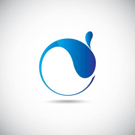 Design elements. Water icon Reklamní fotografie - 41152407