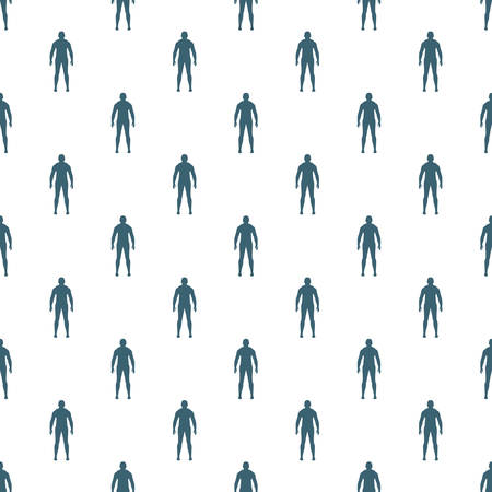 compliant: Seamless human pattern on the white background Illustration