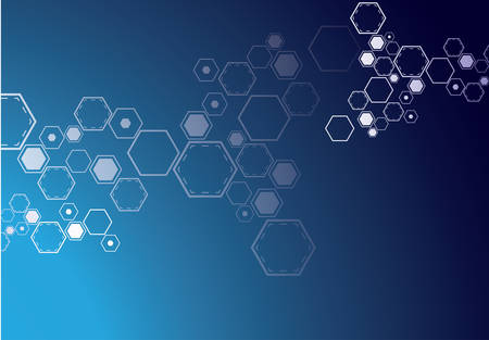 Abstract geometrical background molecule structure. Vector illustration