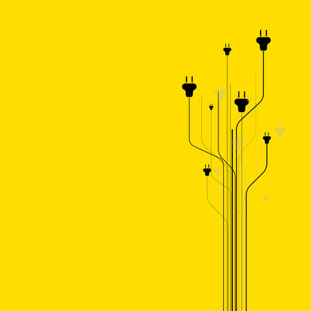 unplug: Abstract background with plugs Illustration