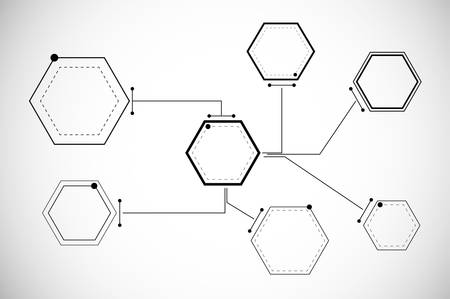 Abstract hexagonal structures Illustration