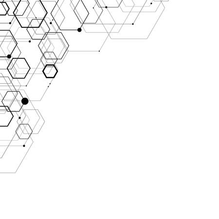 Abstract hexagonal structures.