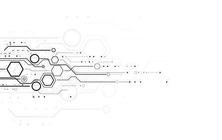 data bases: Abstract science and technology background Illustration
