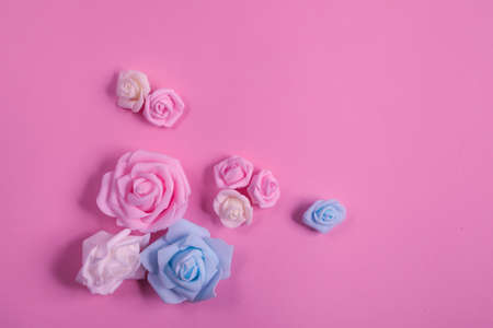 Roses on a vintage background