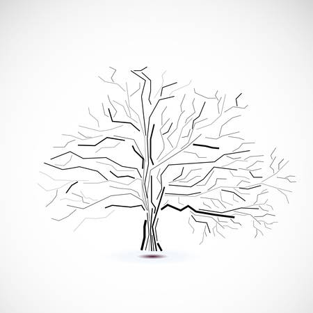 Abstract futuristic tree  イラスト・ベクター素材