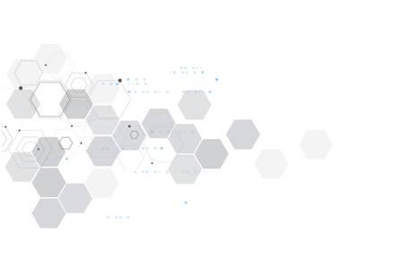 Streszczenie połączenia cząstek. Zaplecze technologii i chemii.