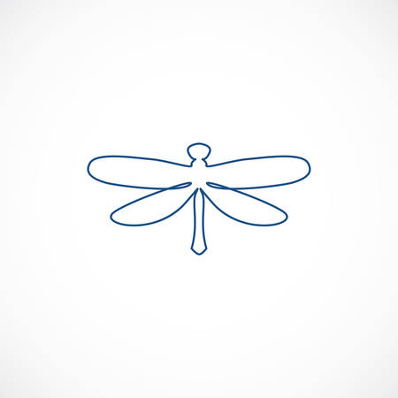 Minimalist elegant Dragonfly