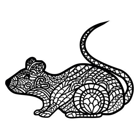 Rat illustration isolated on white 向量圖像