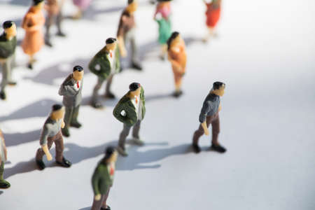Toy, miniature figures of human in costumes.