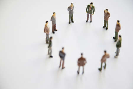 Toy, miniature figures of human in costumes. Archivio Fotografico
