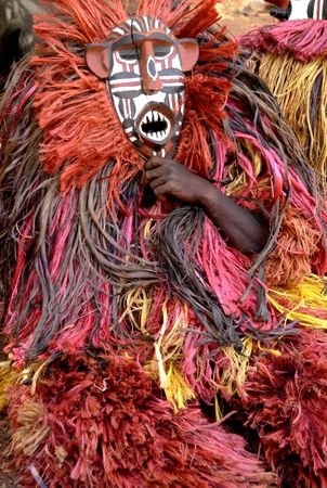 african mask: Africa. Typical mask from Burkina Faso                                 Stock Photo