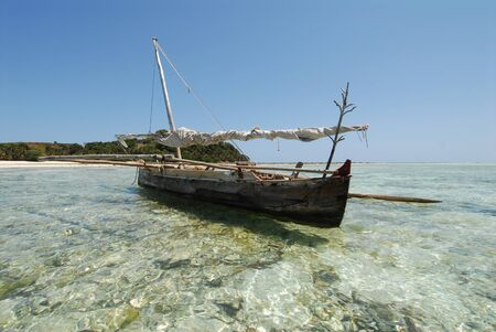 tranquillity: boat of fishermen in Mozambique