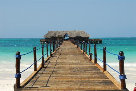 dock on the sea africa, zanzibar,