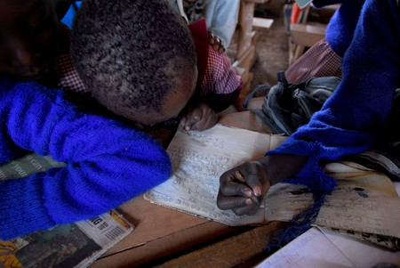 African children in the class