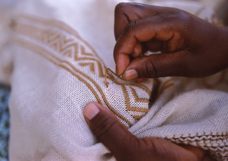 African seamstress Stock Photo - 7159085