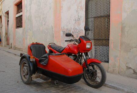 sidecar: Old American sidecar in Cuba