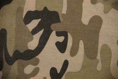 cotton fabric: camouflage cotton fabric type  Stock Photo