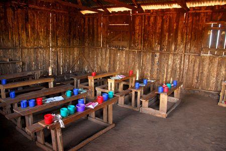 Aula de una escuela en Kenya