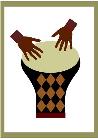 djembe: African drums  Stock Photo