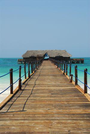 embarcadero en Zanzibar, Tanzania  Foto de archivo
