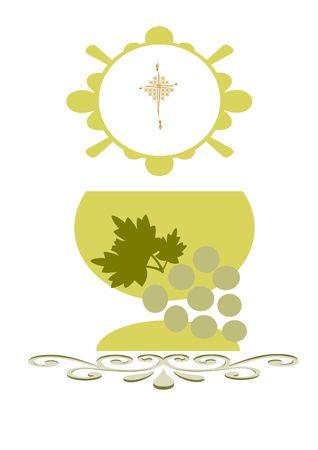 billete para la celebración de la primera comunión