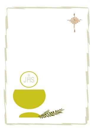 comunione: biglietto per la celebrazione della prima comunione
