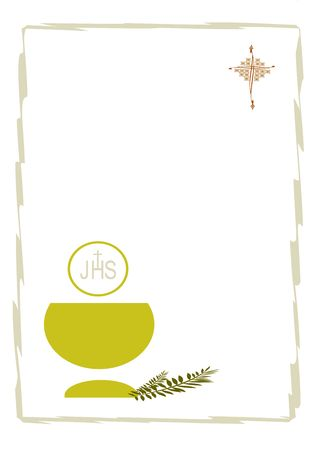ticket for the celebration of First Communion Stock Photo - 7745134