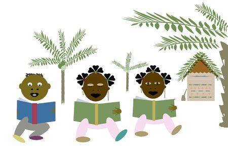 African children to school Stock Photo - 7822179