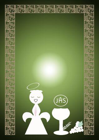 first communion card  photo