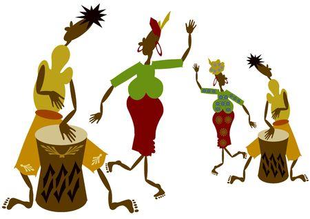 M�sicos africanos  Foto de archivo