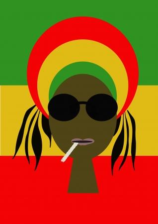 jamaica: Portrait of rastaman Stock Photo