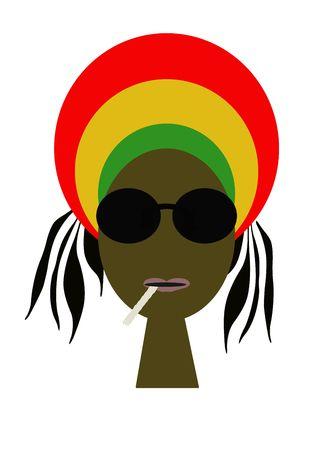 jamaican: Portrait of rastaman Stock Photo