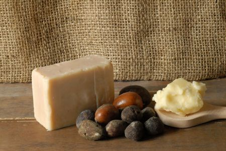 Shea soap with fruit and cream  photo