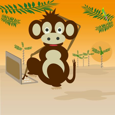 monkey with your computer photo