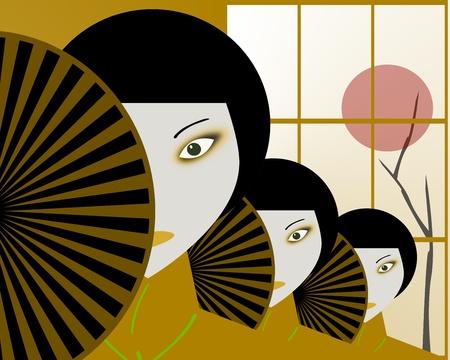 Japanese women Stock Photo - 8411479