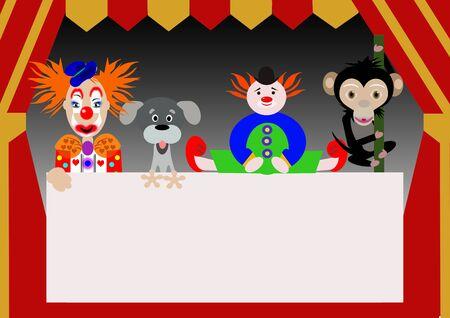 personajes del circo Foto de archivo - 8517965