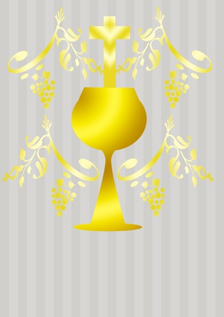 chalices: first communion card