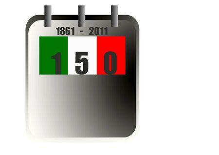 Italy 150 years anniversary unity Stock Photo - 8873886