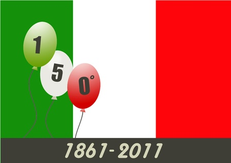 Italy 150 years anniversary unity  Stock Photo - 8873884
