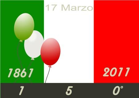 Italy 150 years anniversary unity  Stock Photo - 8873887