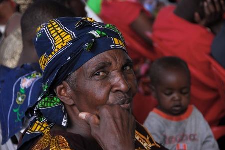 mwanza: Mwanza, Tanzania- 21February, 2010: Portrait of an elderly African woman