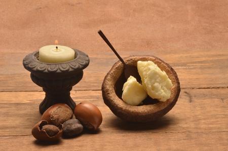 la manteca de karit� con las semillas