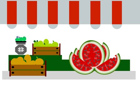the stall of a fruiterer