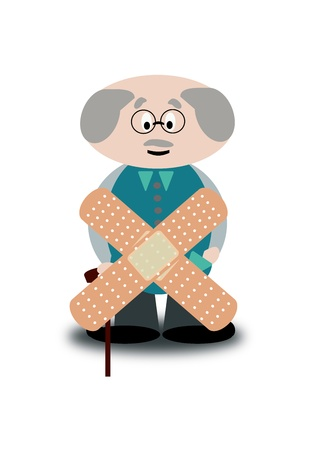 lame: elderly sick Stock Photo