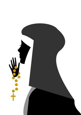 sotana: jóvenes monjas que rezan