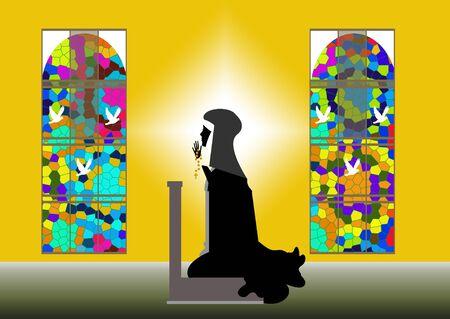 missionary: nun Stock Photo