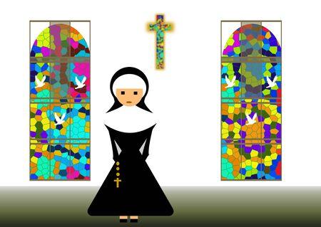 catholic nuns: nun Stock Photo