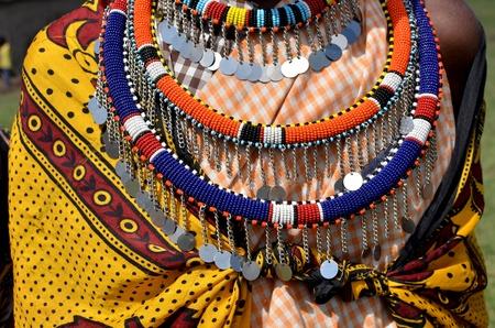 joyas típicas de la tribu Masai