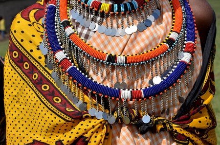 typical jewels of the tribe Masai